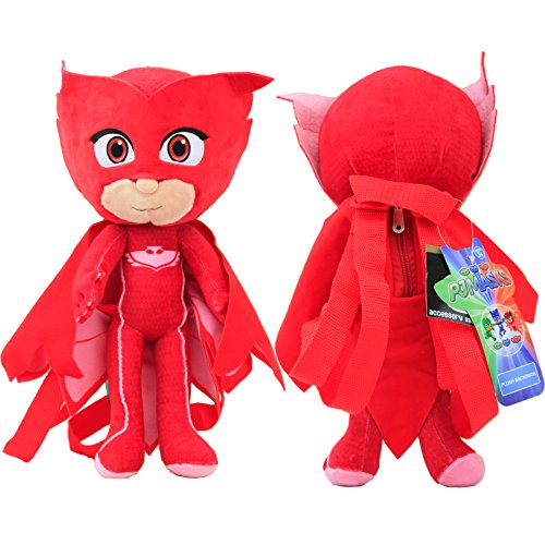 Disney 14' PJ Masks Stuffed Animals Backpack Plush Doll 1Pc Red Color NEW