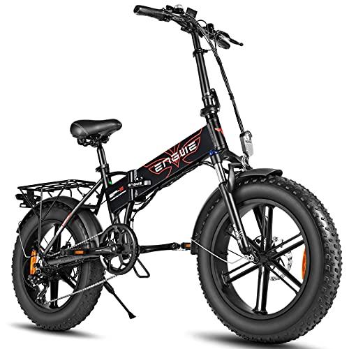 JUYHTY Bici Elettrica Fat Tire 500W Mountain Ebike 48V 12,5Ah Batteria al Litio Rimovibile 5 Ore di Ricarica Rapida Cambio A 7 velocità 3 modalità di Guida B
