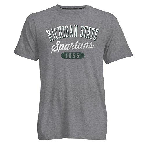 Camp David NCAA Go to Herren Signature Short Sleeve Crew Neck Tee, Herren, Go to Tee, Dark Oxford/Heather, Small