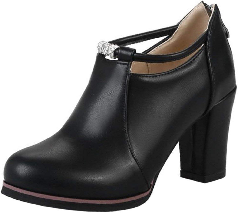 Unm Women's Fashion High Heel Booties shoes