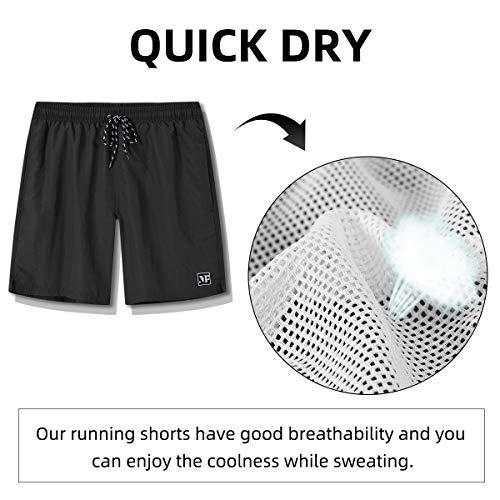 MoFiz Mens Running Shorts Swim Trunks Board Shorts Swimwear Sports Quick Dry Gym with Pocket