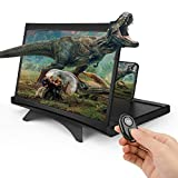 Lente d'ingrandimento 3D HD da 12', per film, video e giochi, lente d'ingrandimento con chiusura per fotocamera, telecomando, supporto pieghevole per cellulare per tutti gli smartphone