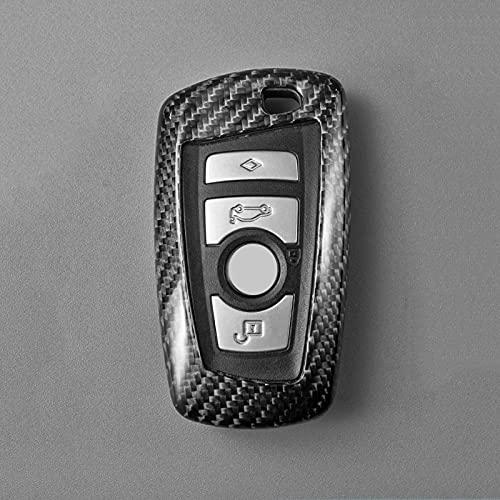 Carro De Fibra De Carbono seco Saco Caso Chave Do Carro Cobertura Fob para BMW 1 2 3 4 5 6 7 M2 X3 X4 Série 3 5GT F20 F22 F30 F82 F10 F12 F02 F25 F26 ClassicBlack