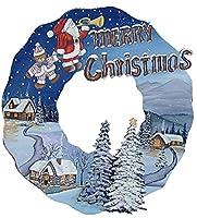 トールペイント ご自分で描く図案付白木素材  mh-378 クリスマスリース もみの木