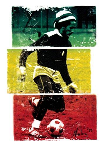 Bob Marley - Playing Soccer in 1977 - Sticker/Decal