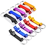 10PCS ParZary Metal Keychain Bottle Openers, Colorful Beer Bottle Opener Keychain, Premium Bottle Opener, Small but Strong, Open Beer Bottle Quickly and Easily, Great Gifts for Men, Friends and Family