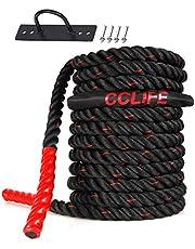 CCLIFE Manubri Pesi 20 kg Bilanciere con Rivestimento in Plastica Fitness