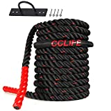 CCLIFE Corde Ondulatoire - Corde d`entraînement - Corde de Bataille - Battle Rope (diamètre: 38mm)...