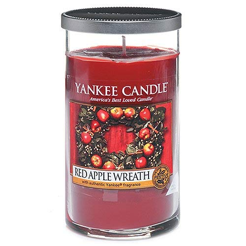 Yankee Candle Perfect Pillar Candela Media, Red Apple Wreath