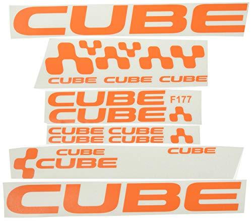 Ecoshirt T5-7AVQ-QSOU Aufkleber Cube F177, Vinyl, selbstklebend, MTB Sticker Bike, Orange