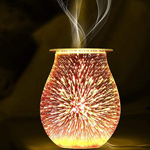 SOOTOP Brûleur de Cire, Fondre Brûleur Verre Aromathérapie Diffuseur Brûleur à Mazout,Lampe De Feu Dartifice Aromathérapie Utilisé dans La Chambre à Coucher, Le Salon,Le Salon De Beauté