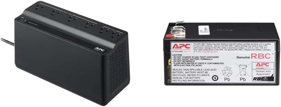APC UPS, 425VA UPS Battery Backup Surge Protector, BE425M Backup Battery Power Supply, Back-UPS Series & UPS Battery Replacement, RBC35, for APC Back-UPS Models BE350G, BE350C