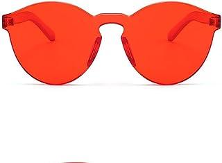 نظارات شمسية ملونة شفافة من قطعة واحدة كبيرة الحجم من Azoxus