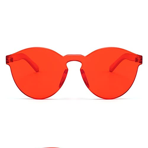 a5783d7df4 Armear Women Men Oversized One Piece Clear Lens Rimless Tinted Sunglasses  58mm
