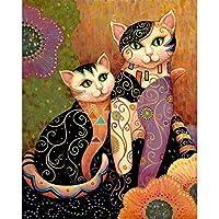 大人と子供のためのジグソーパズル300ピース、2匹の猫大人のための挑戦的なゲームギフトおもちゃ子供ティーン家族パズル