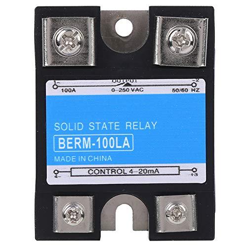 Relé de estado sólido BERM Relé de resistencia Relé de estado sólido monofásico SSR con 100VD DC para control de alta temperatura