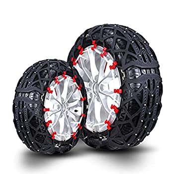 Car Snow Chain Tires Snow Chain Car Off-Road Vehicle SUV Tire Snow Chains Easy to Install  Size   235/60R18