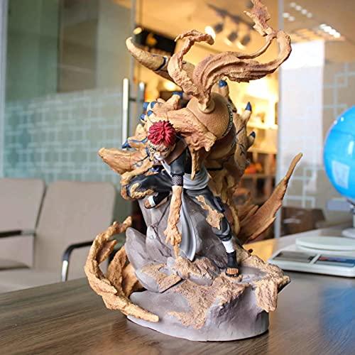 WANIYA1 Anime Figure Naruto Figura Gaara Ichio Morizuru Semi Animalización Posición de lucha Figura Figura Estatua PVC Anime Dibujos animados juego Carácter Modelo Muñecas Juguete Coleccionables Decor