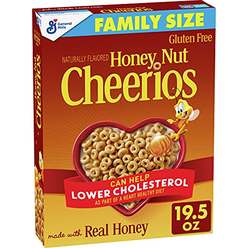 Honey Nut Cheerios Gluten Free Breakfast Cereal, 19.5 oz
