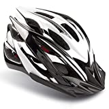 Basecamp Specialized Bike Helmet, Bicycle Helmet CPSC&CE Certified with Helmet Accessories-LED Light&Removable Visor&Portable Bag Cycling Helmet BC-DDTK Adjustable for Men/Women(Blackwhite)