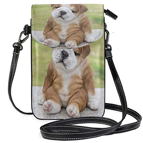 XCNGG Bonita cartera para telfono mvil con Bulldogge ingls antiguo para mujer y nia, pequeos bolsos cruzados