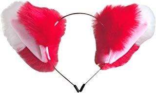 Song Qing Cat Fox Ears Long Fur Hair Headband Anime Cosplay Party Headwear
