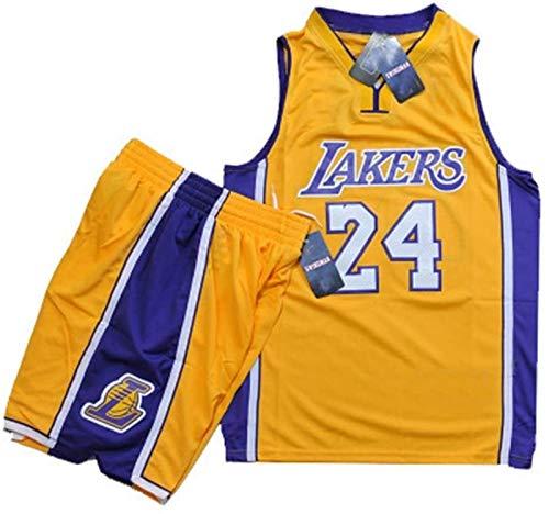 CCET Bekleidung Trikot Mann NBA Basketball Männer des Spiels, James Trikot-Nummer 23 Cavaliers, Kobe Bryant Trikot-Nummer 24, Lakers, Größe (Color : 24yellow, Size : Small- S)