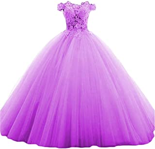 Women's Quinceanera Dresses Off The Shoulder Long Eveing Dress for Formal Ball Gown B183