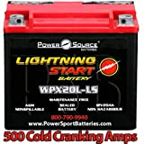 Harley FXDWG Dyna Wide Glide 1340 1450 1584 1690 500cca Lightning Start 20ah Motorcycle Battery for 1993 1994 1995 1996 1997 1998 1999 2000 2001 2002 2003 2004 2005 2007 2008 2010 2011 2012 2013 2014