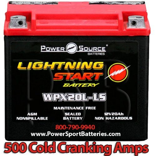 Harley FXD Dyna Super Glide 1340 1450 1584 500cca Lightning Start 20ah Sealed AGM Motorcycle...