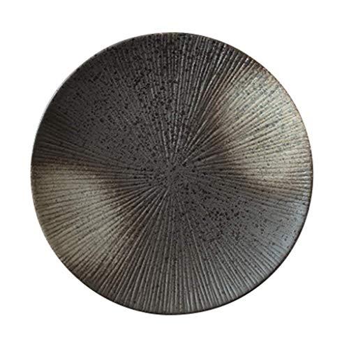 YNHNI Nórdico de cerámica Redondo Placa Placa Vajilla Occidental Regalo (Size : 26.5*)