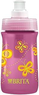 Brita Soft Squeeze Water Filter Bottle For Kids, Pink Butterflies, 13 Ounce