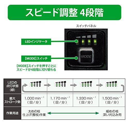 HiKOKI(ハイコーキ)旧日立工機コードレス植木バリカン36Vマルチボルト充電式リチウムイオン電池、急速充電器、予備電池付※蓄電池保証書、純正梱包箱付CH3656DA(2XP)