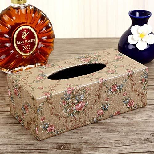 YXYLQ Leder Tissue Box Papier Box Papier Box Haushalt Auto Wohnzimmer Couchtisch Desktop Tissue Aufbewahrungsbox-Kokett (Groß)