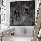 The Avengers VS Justice League (31) cortinas opacas con aislamiento térmico superhéroe de 182,8 x 243,8 cm, cortinas opacas aislantes para dormitorio (tela de poliéster)