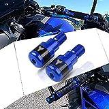 Contrapesos Manillar Extremo de Manillar para Yamaha MT01 MT-01 MT03 MT-03 MT07 MT-07 MT09 MT-09 MT10 MT-10 SP MT125 MT-125-Azul