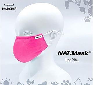 Bambooloo Nat:Mask 3+1 Layer Reusable Mask (S, Hot Pink)