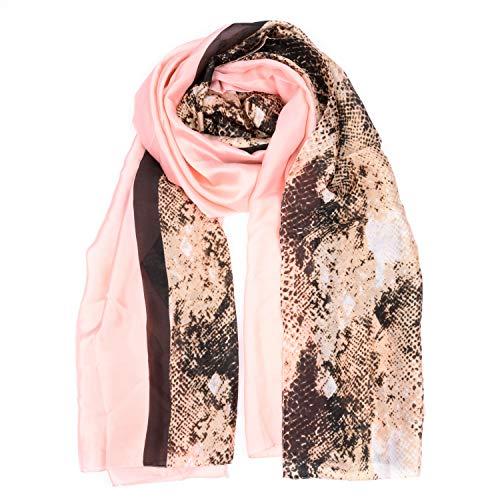 BeCann Bufanda de seda Bufanda larga de satén para mujer Pantalones de protección solar grandes Envolturas de satén para pañuelo de cabeza Nec