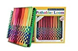 Harrisville Designs Potholder 7' Traditional Size Potholder Loom Kit with Cotton Loops Make 2 Potholders, Weaving Crafts for Kids & Adults-Multi