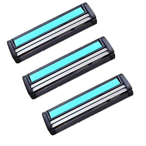 Xyamzhnn Lame de Rasoir en Acier Inoxydable Hommes Peuvent être lavés -3 recharges tranchants (Color : Color1)