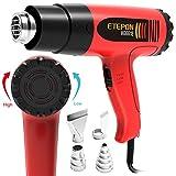 ETEPON Heat Gun Kit Temperature Adjustable Hot Air Gun 1800w 120°F-1020°F with 4