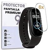 REY Protector de Pantalla para XIAOMI MI Smart Band 4 - Smart Band 5, (Pack 6X)