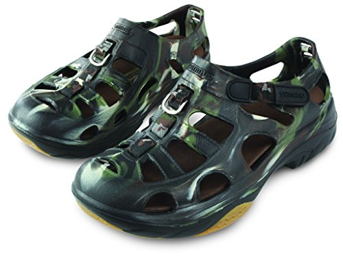 SHIMANO Evair Marine Fishing Shoes, Size 07, Camo