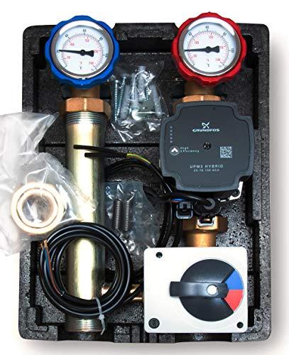 Pumpengruppe mit 3 Wege Mischer | GRUNDFOS UPM3 Hybrid 25/7
