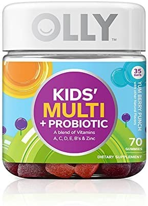 OLLY Kids Multi Vitamin and Probiotic Gummy Supplements Yum Berry Punch 70 Count by Olly product image