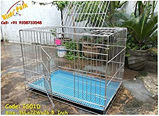 Birds' Park Steel Dog Cage For Pug, Dachshund & Small Breed Pups