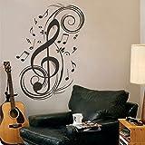 MairGwall Music Notes Musical Treble Clef Wall Vinyl Decal Sticker Art Design Stylish Interior Decor Bedroom (B)