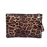 Mdsfe Bolsos con Estampado de Cebra de Leopardo Embrague de día Bolso con asa Vintage para Mujer Bolso Simple de Mensajero Leopard Bolso Retro Bolsa Feminina-Marrón, A2