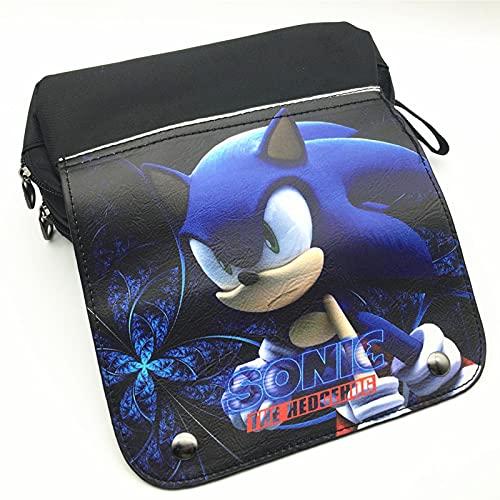 XINHENG anime papelería Juventud erizo azul Sonic anime papelería versión coreana gran capacidad doble capa papelería almacenamiento organizador