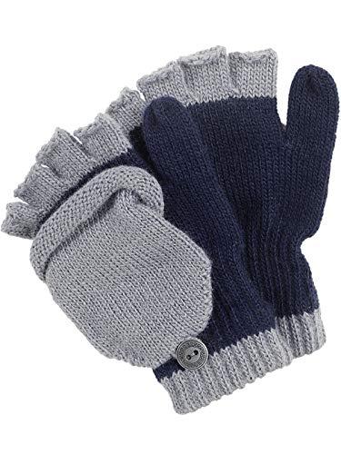 Claus Modes Halbfinger Handschuh mit Klappe in bunten Farben, Farben:marine, Handschuhgröße:5